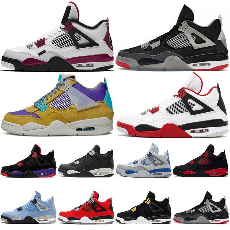 2021 Баскетбольная обувь Jumpman 4 Мужская Обувь Air Jorden 4s Белый Орео Союз Гуавa Taupe Haze Открытые Мужчины Женские Спортивные кроссовки Кроссовки Размер 5.5-13