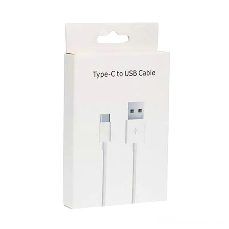 Mikro USB Şarj Kabloları Tipi C Yüksek Kalite 1 M 3ft 2m 6ft Sync Veri Kablosu Samsung Cep Telefonu için Hızlı Şarj Perakende Kutusu