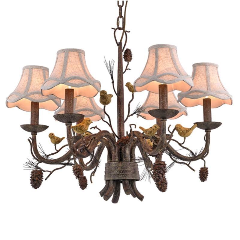 빈티지 스타일 샹들리에 플러시 마운트 조명기구 램프 산업용 금속 샹들리에가는 철 섬 국가