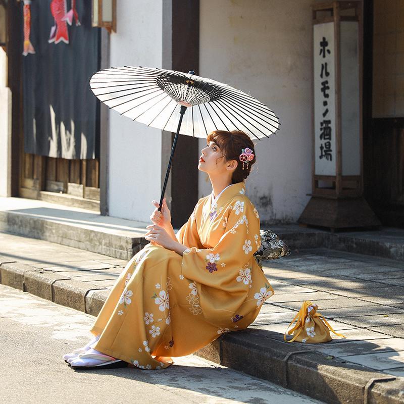 Anime Cosplay Costume Halloween Women kimono traditional ethnic Dress Sakura robe Yukata Japanese gown long elegant Asian apparel
