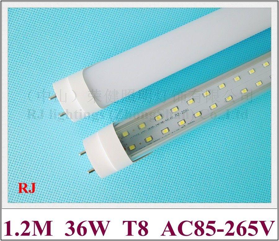 SMD 2835 G13 T8 LEDチューブ蛍光LEDチューブ球根2行1200mm SMD2835 192 LED(2 * 96LED)36W 4000LM超明るいアルミニウムCEの省エネ