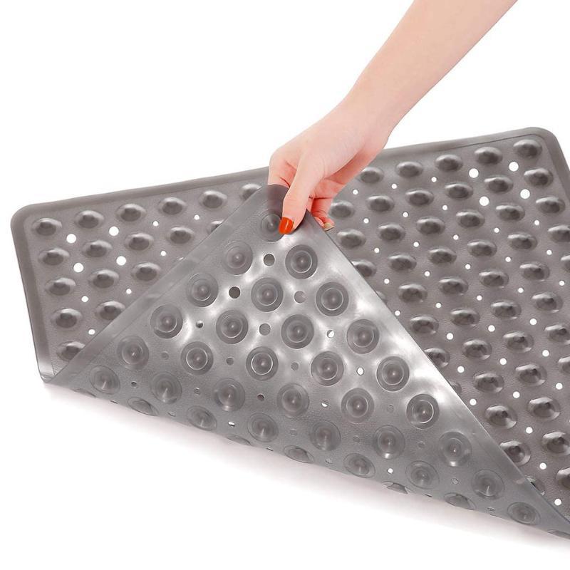 Tapetes de banho Chuveiro colorido quadrado plástico não deslizante esteira de banheiro com furos de dreno banheira lavável máquina anti-molde para el