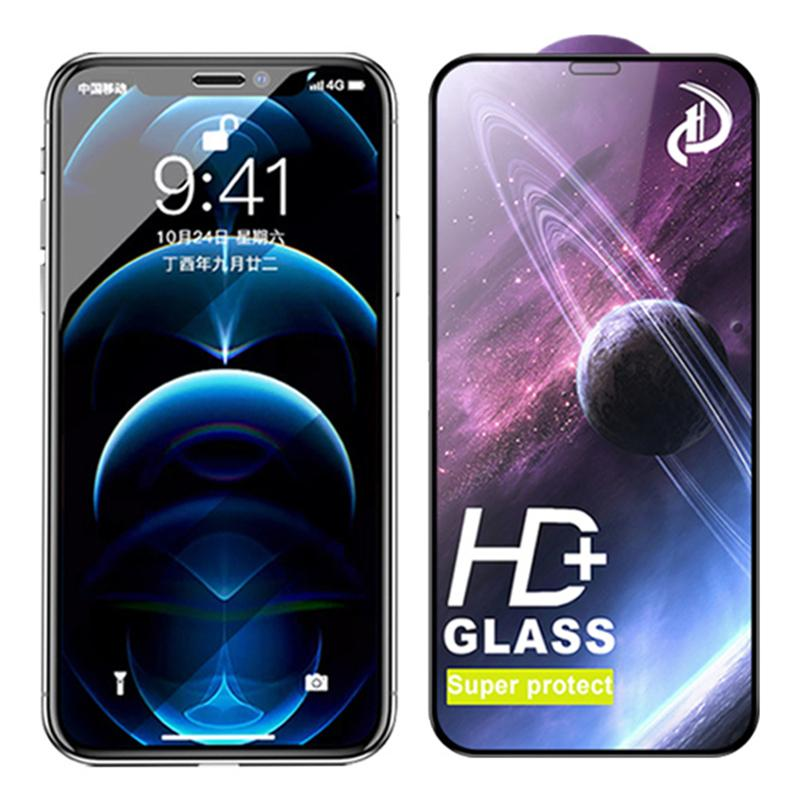HD de vidro temperado super proteger protetor de tela protetor de cinema protetor protetor de cobertura curvada protetor para iphone 13 pro max 12 mini 11 xr x 8 7 6 6 s mais