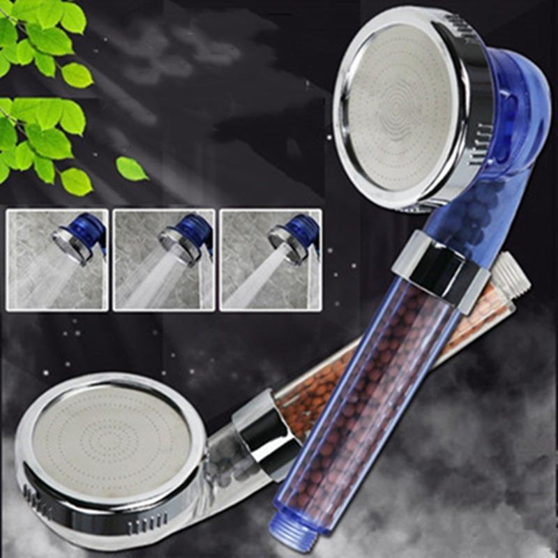 Bathroom Shower Sets 3 Modes Adjustable Jetting Rainfall Saving Water Anion Filter Mineral Ball High Pressure Spa Head