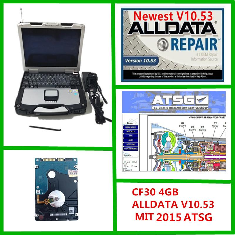 2021 newest Alldata v10.53 and M...ll 2015 ATSG Auto Repair 3 in 1 TB hdd Installed on cf30 4GB laptop ready to use