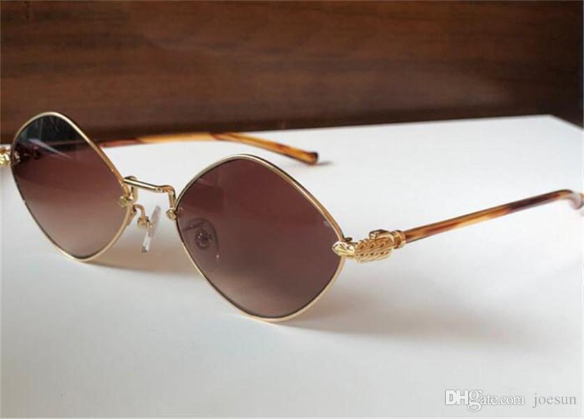 Homens vintage e mulher óculos de sol Diamante design especial Rhombus metal quadro retro estilo simples uv400 óculos protetores de qualidade superior