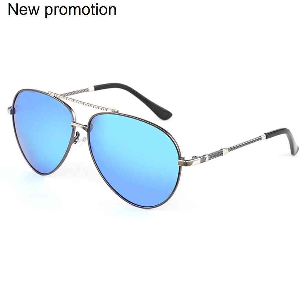 Haimaitong 2021 nuevos hombres gafas de sol polarizadas 7 colores marco de metal UV400 Vidrios de conducción masculinos con caja
