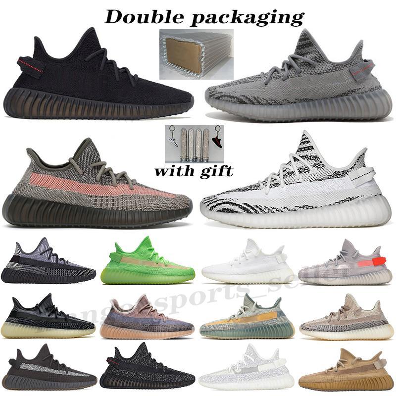 Kanye Compred мужские Женщины кроссовки на землю Орео черный статический светоотражающий крем для обуви белый белуга 2.0 yecheil Cinder Zebra V2 спортивные кроссовки
