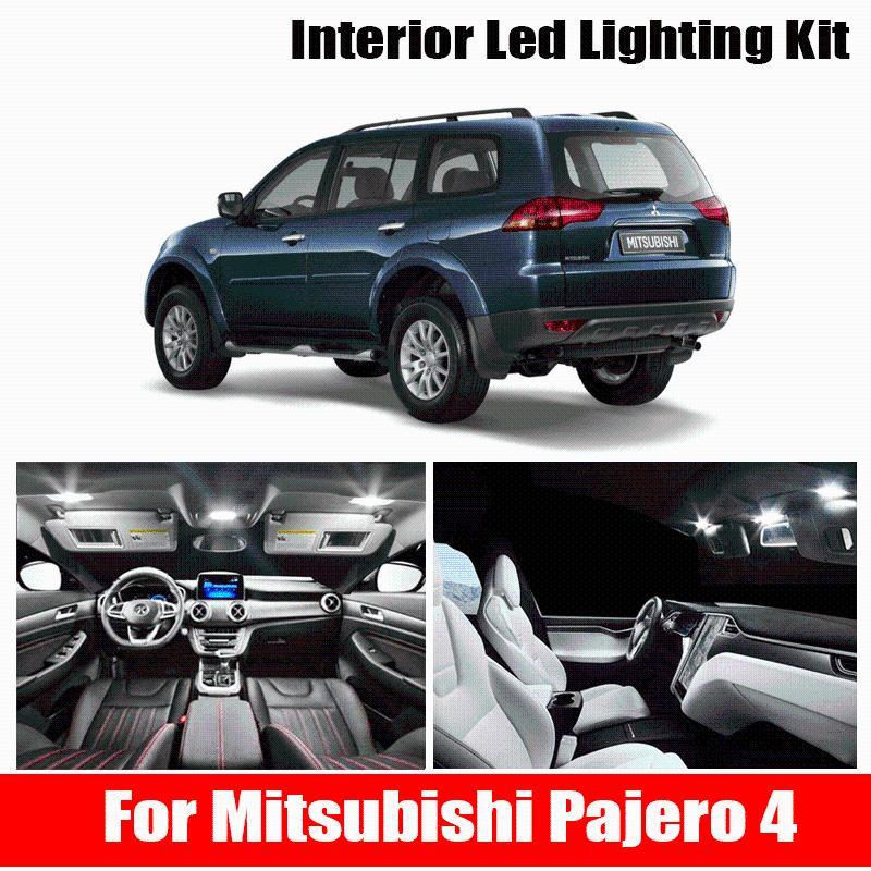 7Pcs Canbus Auto LED Interior Light Kit For Mitsubishi Montero Shogun Pajero 4 V80 V93 V97 V98 2007-2021 2021 Car Lighting Emergency Lights