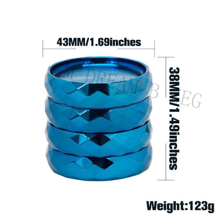 Andere Raucherzubehör Durchmesser 43mm Rauch Zinklegierung 4 Schichten Teile Kräutermühle Tabakmühlenbrecher mit Zähnen i4Uw
