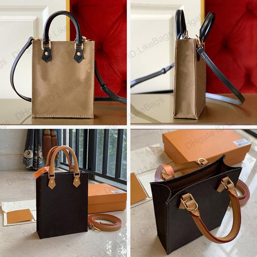 Designer Womens Handtaschen Geldbörsen Petit Sac plat Luxus Messenger Bags mit Kasten Echtes Leder Alte Blume Pochettes Mode Crossbody Mini Schultertelefon Einkaufstasche
