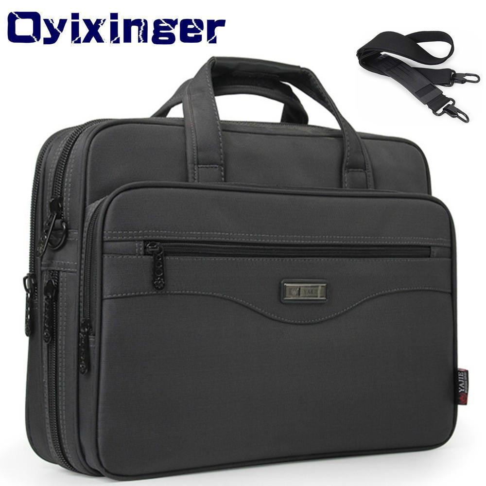 Pasta dos homens Bolsa de laptopas impermeável Oxford Pano Homens Computadores Handbags Portfólios Negócios Homem Ombro Sacos de Viagem Q0112