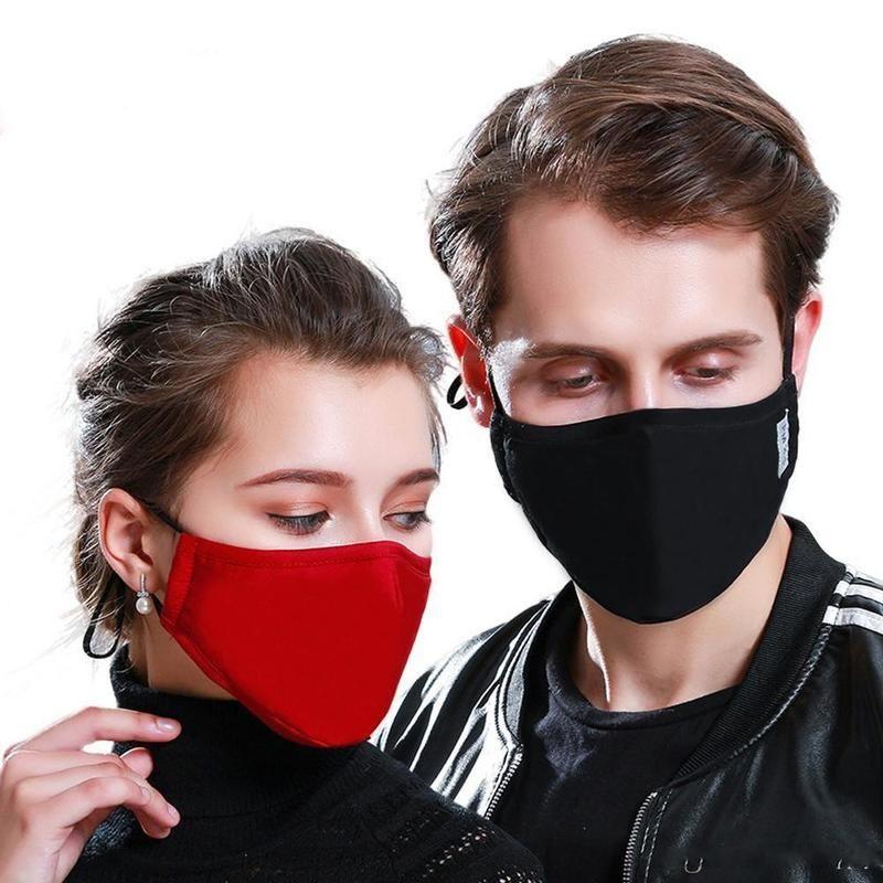 Nuova maschera antipolvere regolabile, muffola di moto in cotone nero per il ciclismo da campeggio, panno riutilizzabile lavabile al 100%