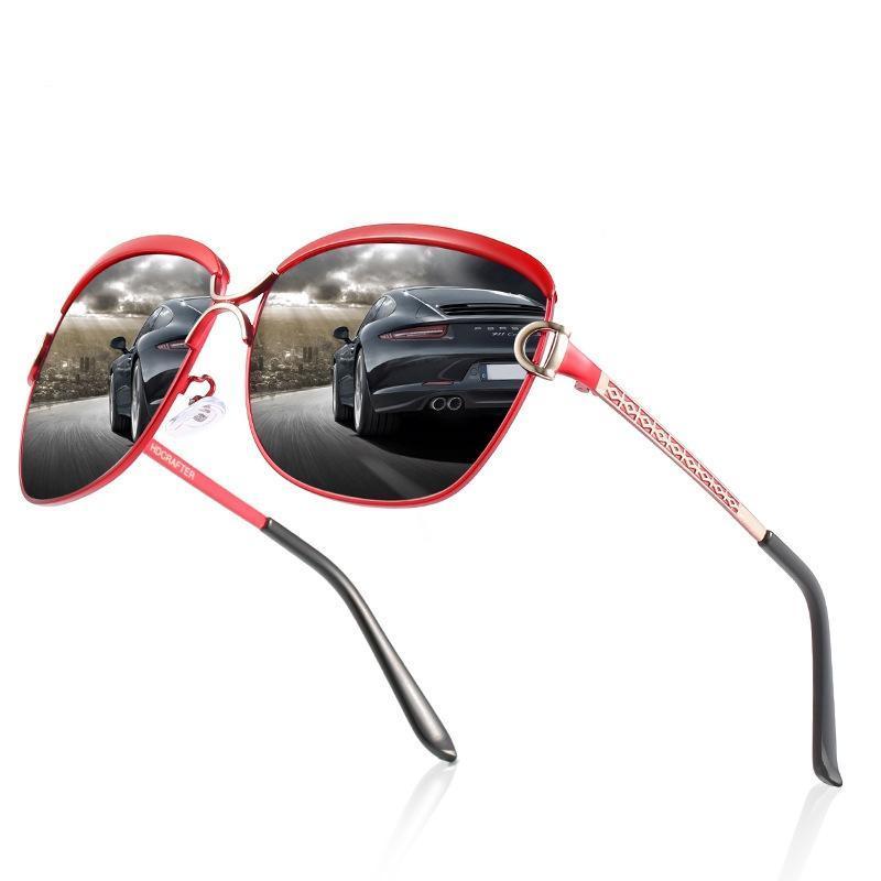 نظارات شمسية أزياء الاستقطاب الكلاسيكية الكبيرة القيادة الصيد مرآة K8702 سفر الظل نظارات انذار دي سولي فام