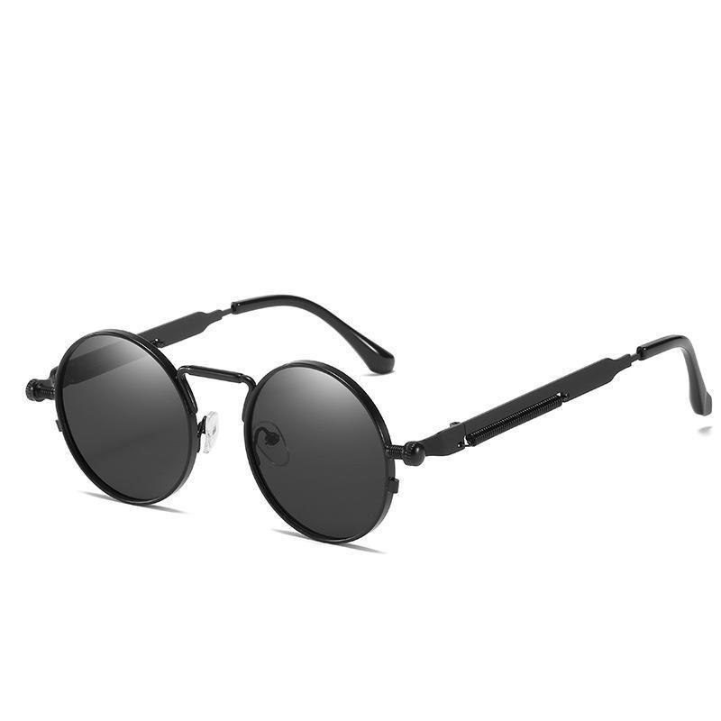 Sunglasses Style Punk avec temples de printemps en métal et personnalisé