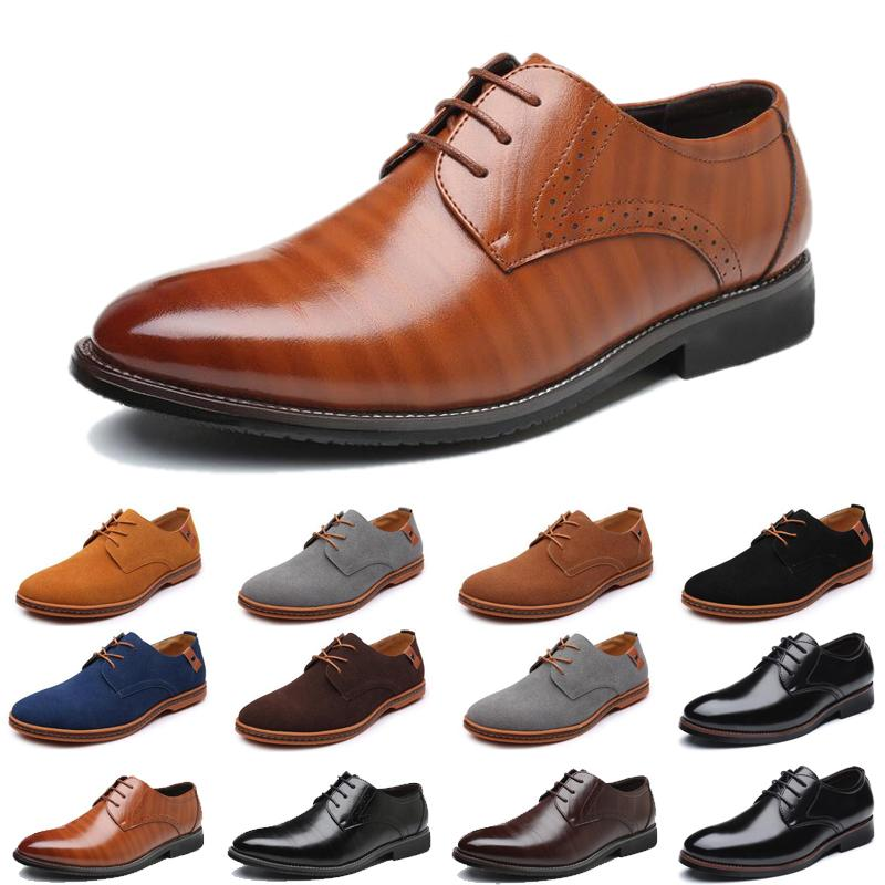 2021 luxury men casual shoes black brown loafers Outdoor flat slip on fashion mens trainers sneakers size 40-47 color8
