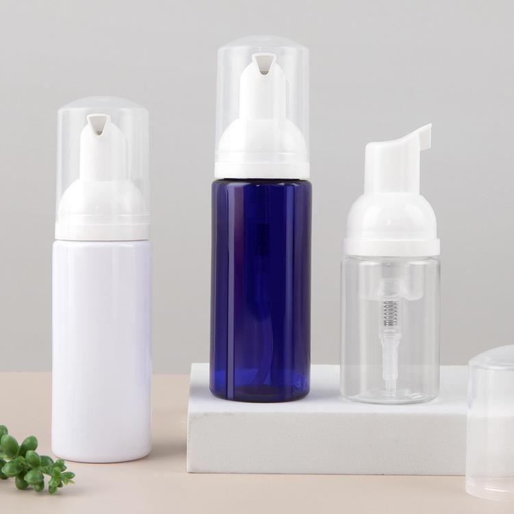 2OZ / 60ML Bouteille de pompe à mousse vide de 1oz / 30 ml Taille de voyage Taille de voyage en plastique Bouteille de savon Portable Petite main Distributeur de dissitisme