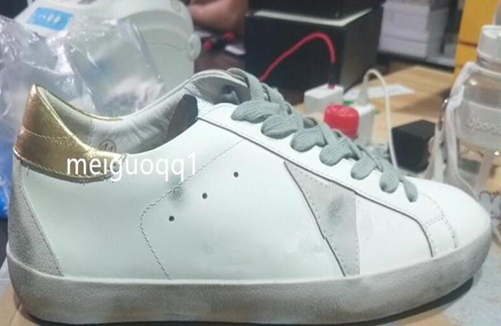 2021 Italienische Beiläufige Schuhe G33ms590SNEUKER SUPER STAR Pailletten Classic White Distressed Dirty Shoe Designer Men's and Damen Casual # Schuhe # Original Box 2.4