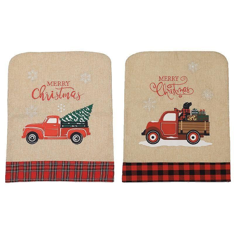 2 STÜCKE Weihnachtsstuhlabdeckungen für Feiertag Festliche Home Dinner Tischstühle Dekorationen