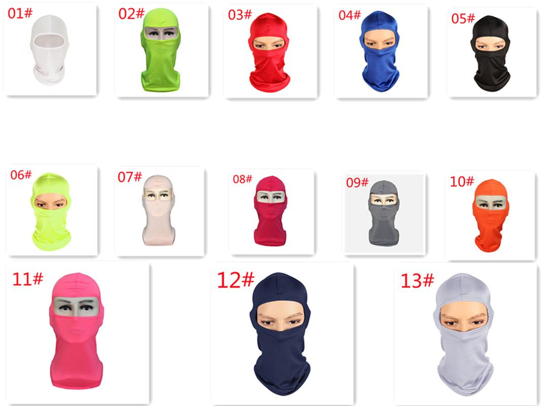 Lycra Mask headset with soft equipment for outdoor face motorcycle windproof tactics cold protection cs Riding