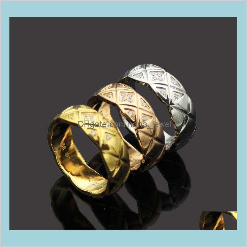 Toptan Narrow Edition Taşlar Yüzük Elmas Kafes Desenli 18 K Gül Altın Kafes Elmas Yüzük ile Dar Versiyonu Aşk Düğün Vzpib