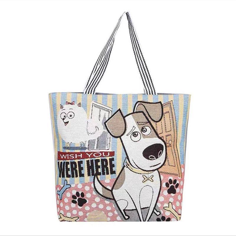 Korean version ins student canvas bag women's literature and art versatile single shoulder bags small fresh linen short distance travel bagss P028