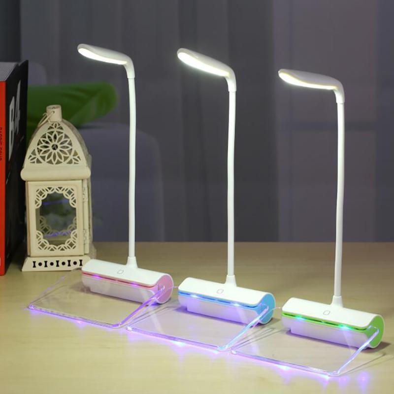 الجدول مصابيح الإبداعية رسالة ضوء 3 مستويات القراءة مكتب اللمس التبديل الصمام مصباح حماية العين usb ليلة مع مجلس