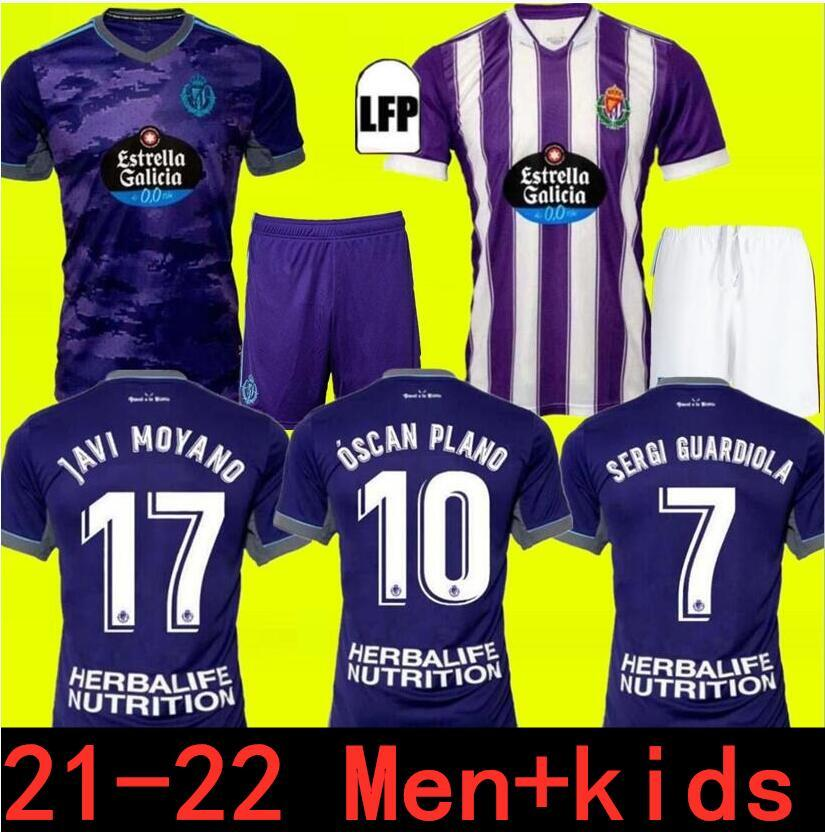 21 22 Real Valladolid Soccer Jerseys Fede S. Sergi Guardiola óscar Plano Camisetas de Fútbol 2021 2022 الكبار الاطفال كيت قمصان كرة القدم