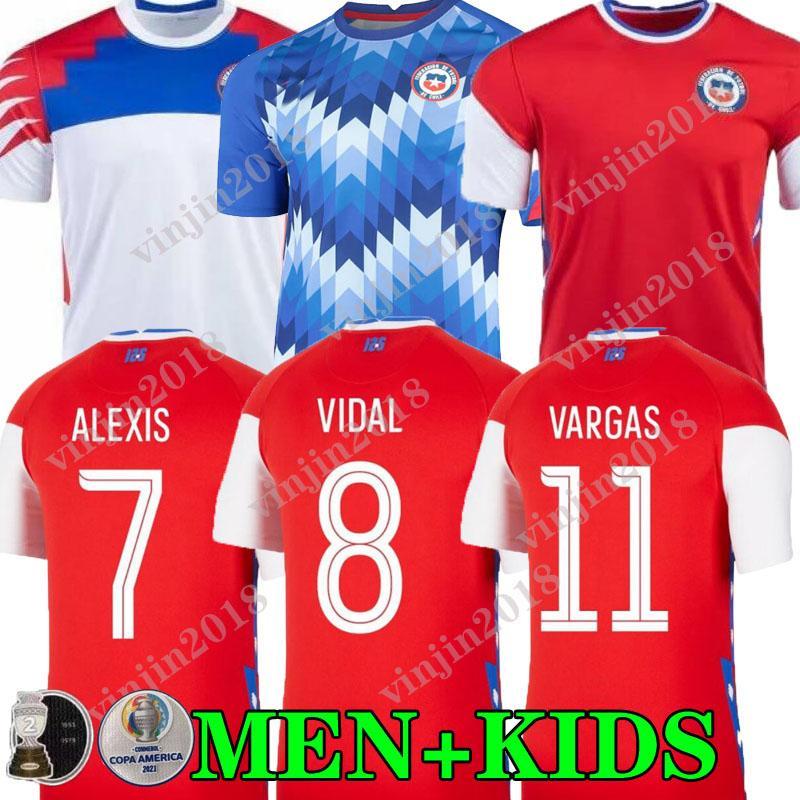 Acquista COPA AMERICA 2021 Cile Soccer Jersey Casa Away Alexis Vidal Vargas Medel 20 21 Pinares Camiseta De Fútbol Team National Team Training Camicie ...