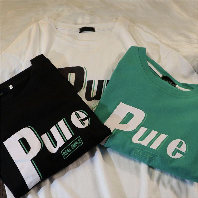 Camiseta camiseta de manga corta de viento Camiseta de verano para mujer Bla suelta media marea sal estilo superior de la primavera y 2021