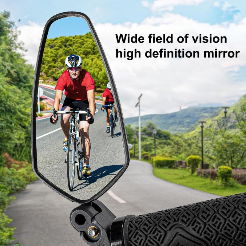 Bike Groupsets Bicycle Handlebar Mirror 360 Degree Adjustable Wide Angle Foldable Lens MTB Road Rearview For Cycling Accessories