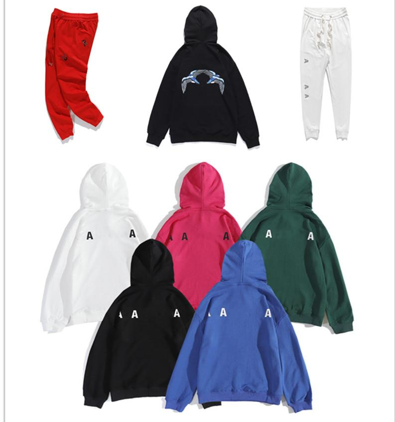 061 고품질 남성 및 여성의 후드 브랜드 브랜드 럭셔리 디자이너 까마귀 스포츠웨어 스웨터 패션 트랙 슈트 레저 자켓