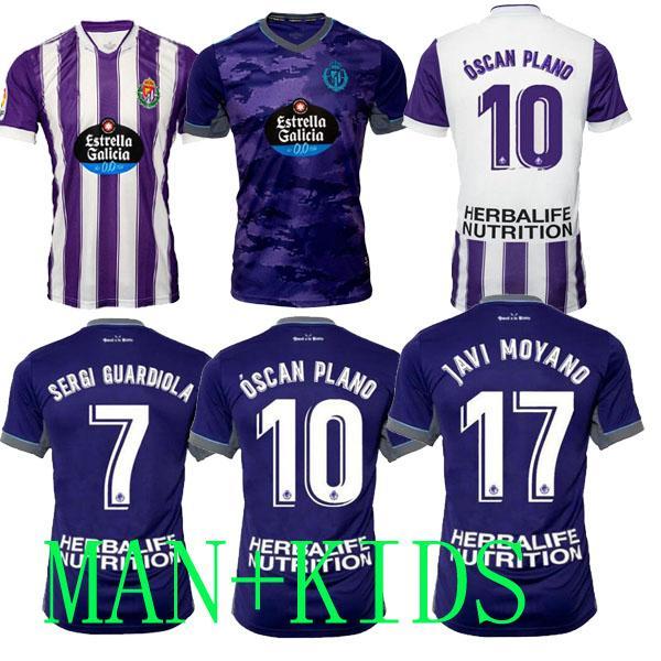 21 22 Real Valladolid Soccer Jerseys Weissman Fede S. Sergi Guardiola Óscar Plano L. OLAZA R.Alcaraz Marcos Andre Camisetas de Fútbol 2021 2022 Hombres Kit Kit de fútbol camisas
