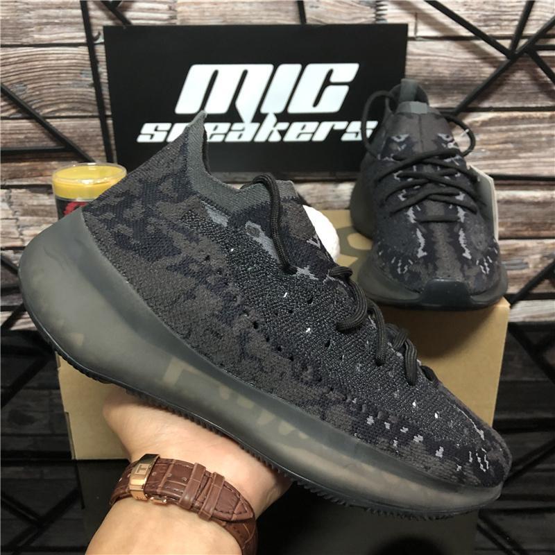 En Kaliteli Batı 380 Ayakkabı Biber Mavi Yulaf Alien Mist 3 M Yansıtıcı Azure Koşu Kil LMNT Üçlü Siyah Erkek Bayan Açık Havada Sneakers ile Kutusu