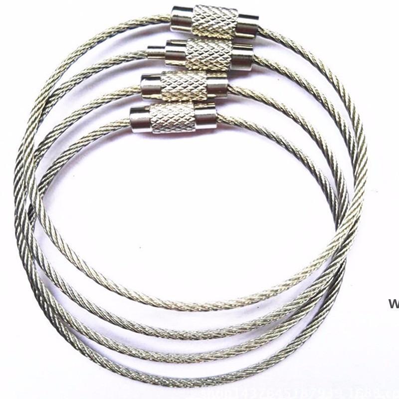 الفولاذ المقاوم للصدأ أداة أجزاء سلك سلسلة المفاتيح حبل مفتاح سلسلة حلقة حلاقة كابل كيبل للتجزئة في الهواء الطلق DHD6591