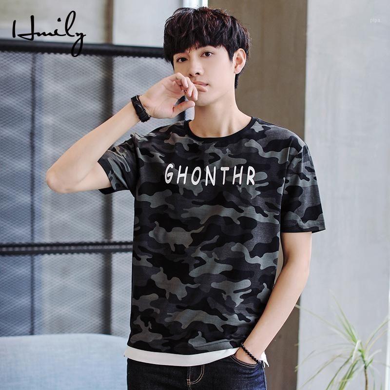 T-shirt O-Neck T-shirt 100% Cotton Mens T-Shirt Fashion Summer Camouflage Manica corta Casual T-shirt T-shirt Abito Topstee1