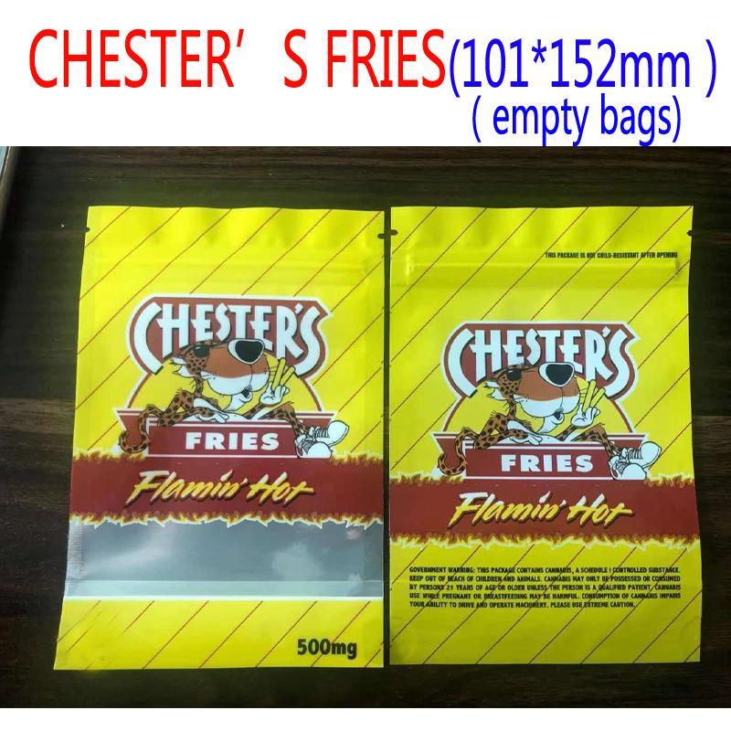 500 mg E Vacío Embalajes Bolsas de embalaje Rundz Cesters Fries Flamin Oll Bag Infused Resellable Baggies