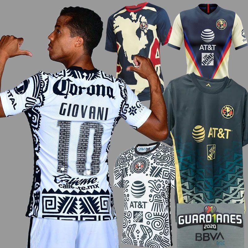 Футболка 2021 Liga MX Club America, третья футбольная майка 20 21 GIOVANI CASTILLO G. OCHOA America 3rd Goalie, комплект футболок для мужчин и детей