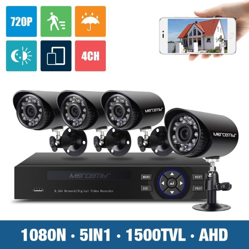 Morcembr 1MP 4CH CCTV نظام الكاميرا IP 720P AHD DVR مراقبة الفيديو كيت كاميرات الأمن مجموعة أنظمة