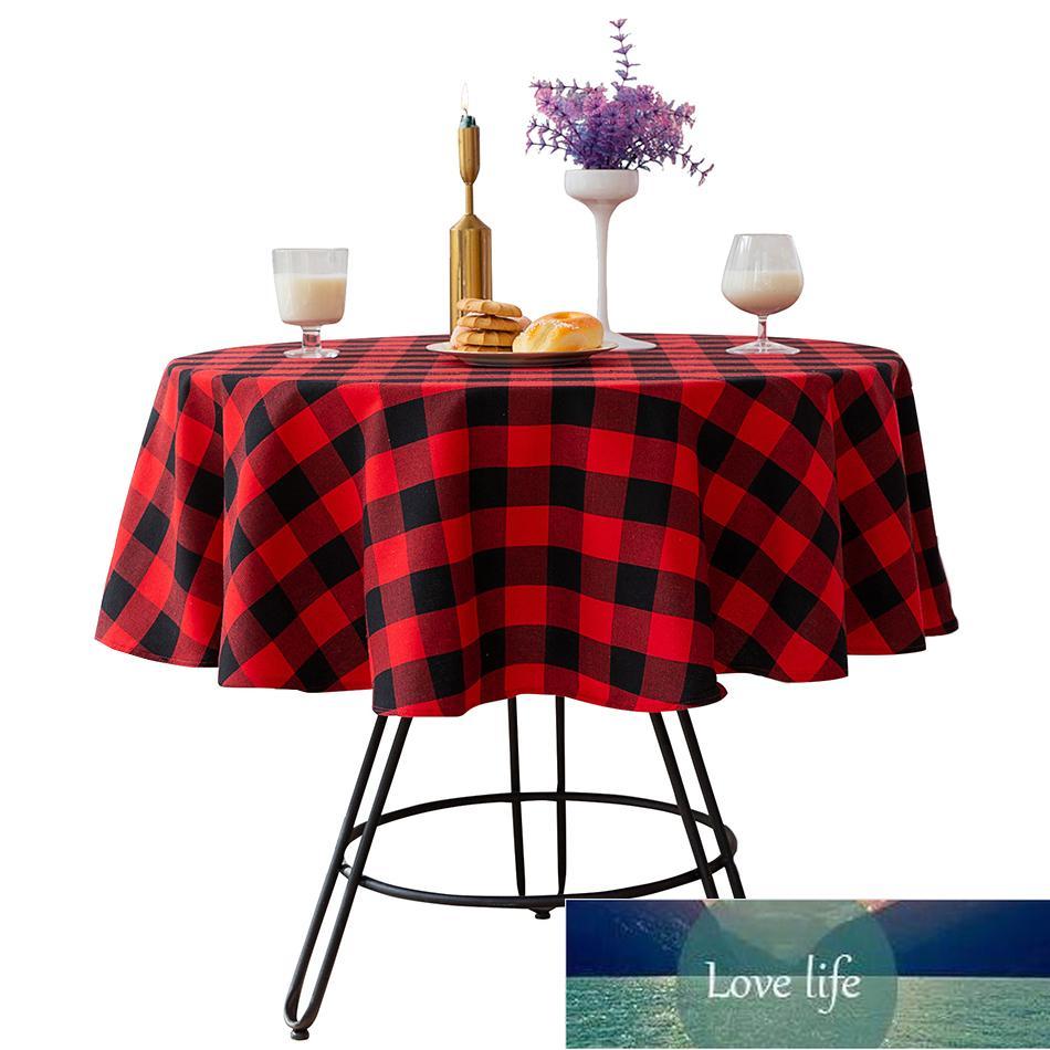 Manteles redondos, decoración navideña M cubo de mesa de algodón, Taliolas para cocina Cumpleaños Año Nuevo Gris Gris Cocina