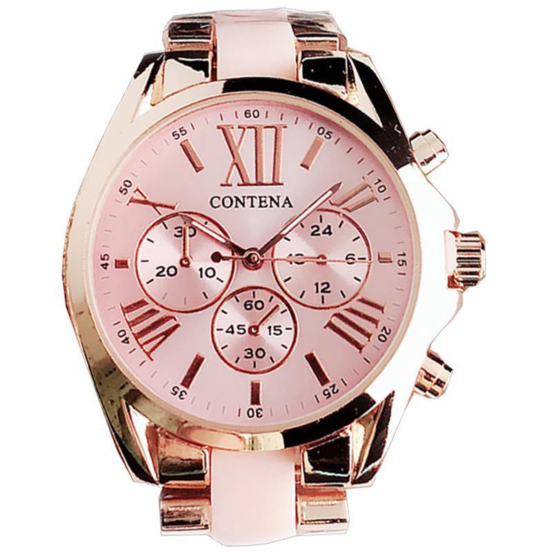 Moda Rosa Relojes Relojes de lujo Top Ladies Muñequera Muñeca Estilo Cuarzo Reloj Relogio Feminino Montre Femme Wristwatches