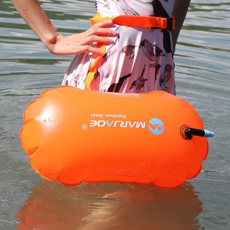 Life Weste Boje Schwimmen Float Tasche Wasserdichte PVC Aufblasbare Schwimmen Wasser Sport Sicherheit Lifesaver Luft Dry Tow Segelflotation