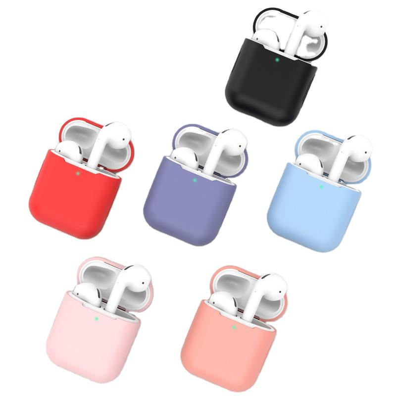 Coloful Air Pods Case Silicon Pouch for Apple Earphone Airpods Pro Set Protector Cover Skin Wireless Aribuds حزمة مع مشبك معدني