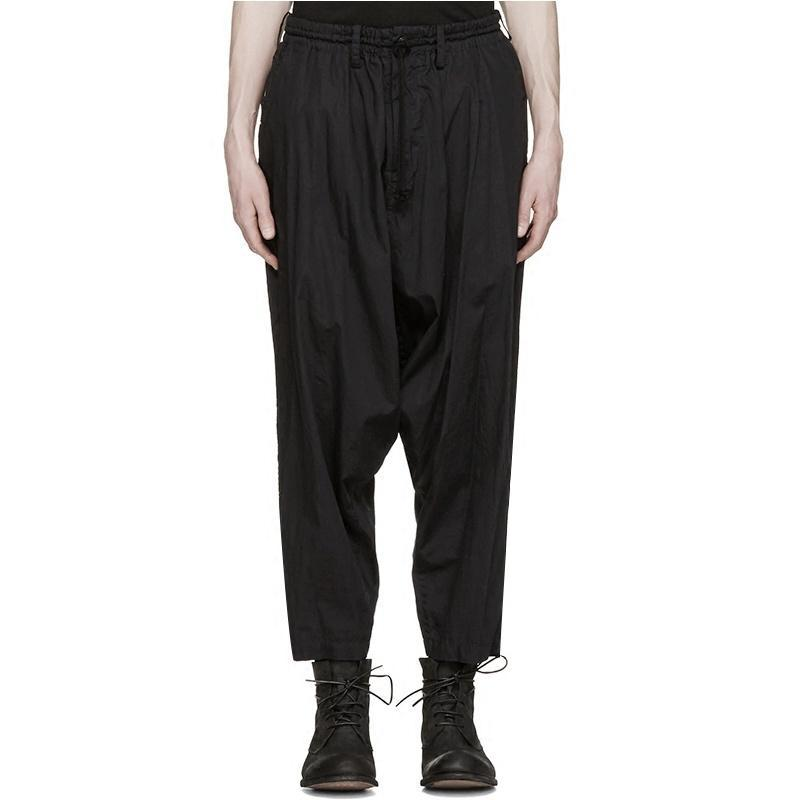 Erkek Pantolon Harlan Ayakları Pantolonlu Pantolon, Gündelik Pantolon, Ince Bahar ve Yaz Ürünleri Kırpılmış