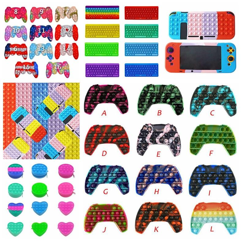 Kabarcık Fidgets Oyun Denetleyicileri Antistress Oyuncaklar Yetişkin Çocuklar Pop Fidget Sensory Oyuncak Otizm Özel İhtiyaçlar Stres Rüşeratör Toptan
