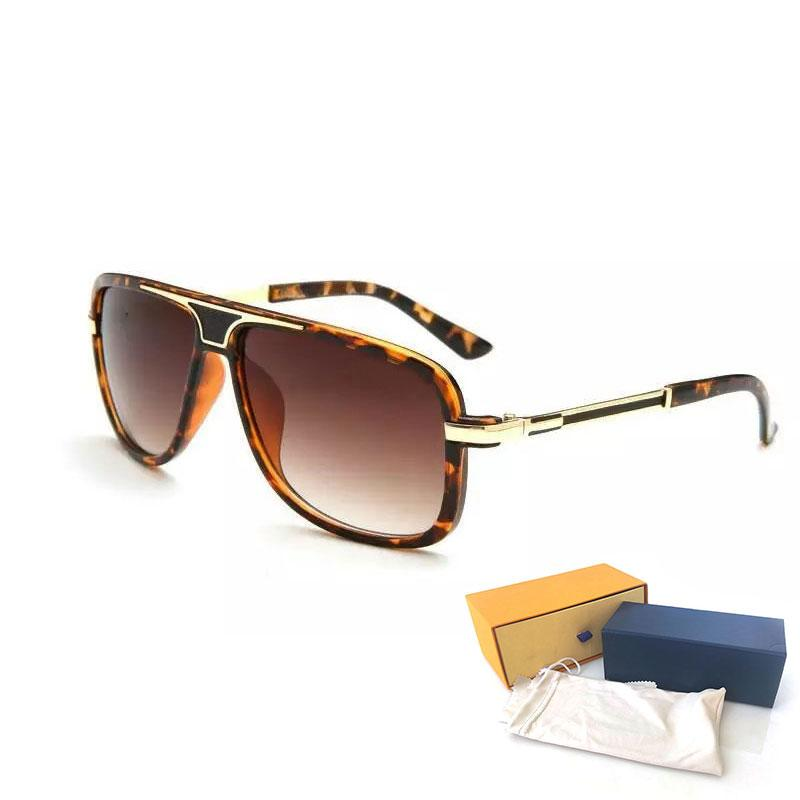 High Quality Womans Sunglasses Luxury Mens Sun glasses UV Protection men Designer eyeglass Gradient Metal hinge Fashion women spectacles with boxs glitter2009 239