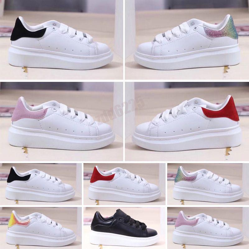 2021 Kids Shoes All Leather Low Top Sports Skateboard Originals MQ Sole Buffer Foam Vacuum Casual Sports 26-35
