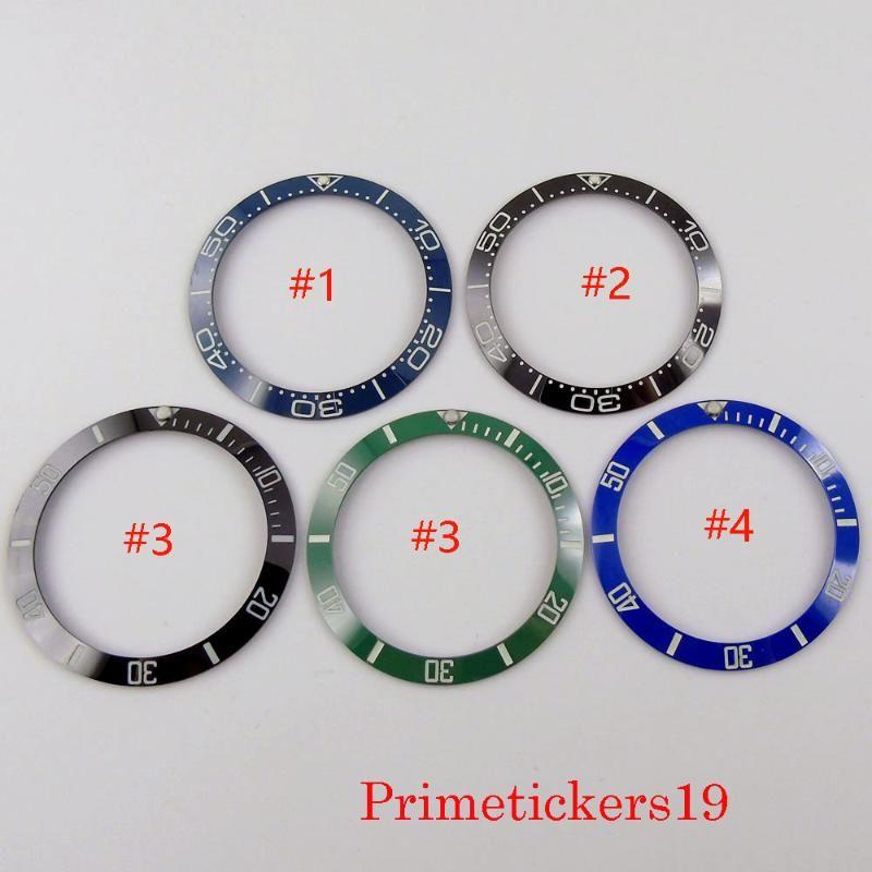 Luminous Marks Ceramic Bezel Ring Insert Fit 40mm Men's Automatic Wristwatch 5 Styles Watch Parts Repair Tools & Kits
