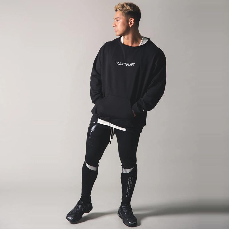 Tracksuits Lyft Muscle Brothers Automne Sports Pull Sweater Pull Coton Running Fitness manche à manches longues