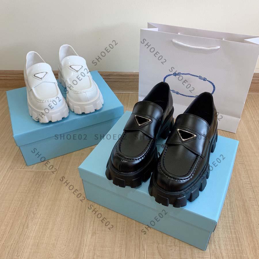 Haute Qualité Femmes Casual Casual Chaussures Casual Bottines Bottines Cuir Chaussure Ceinture Buckle Usine Direct Femme Talon rugueux Tête ronde Taille: 35-40 par Chaise02 01